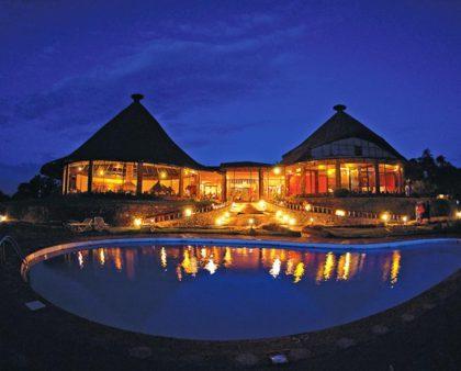 Ngorongoro Sopa Lodge night view