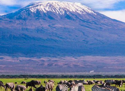 Mt Kilimanjaro view from Amboseli National Park Safari