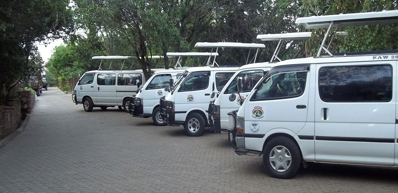 Penfam Tours and Safaris vans