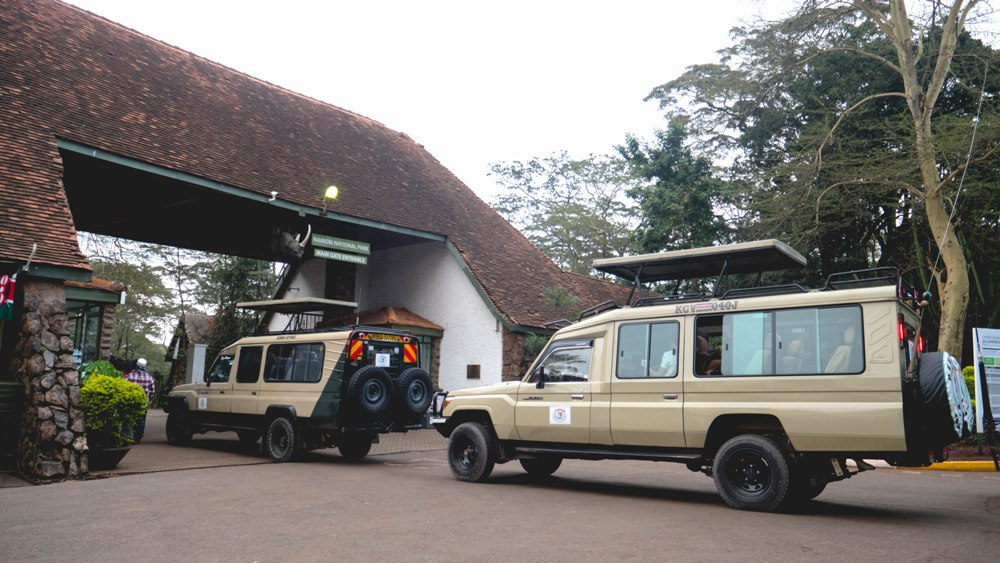 Penfam Tours and Safari 4x4 Kenya Safari Landcruiser Nairobi National Park Entrance