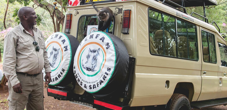 Penfam Tours and Safaris 4x4 van Proprieter Peter