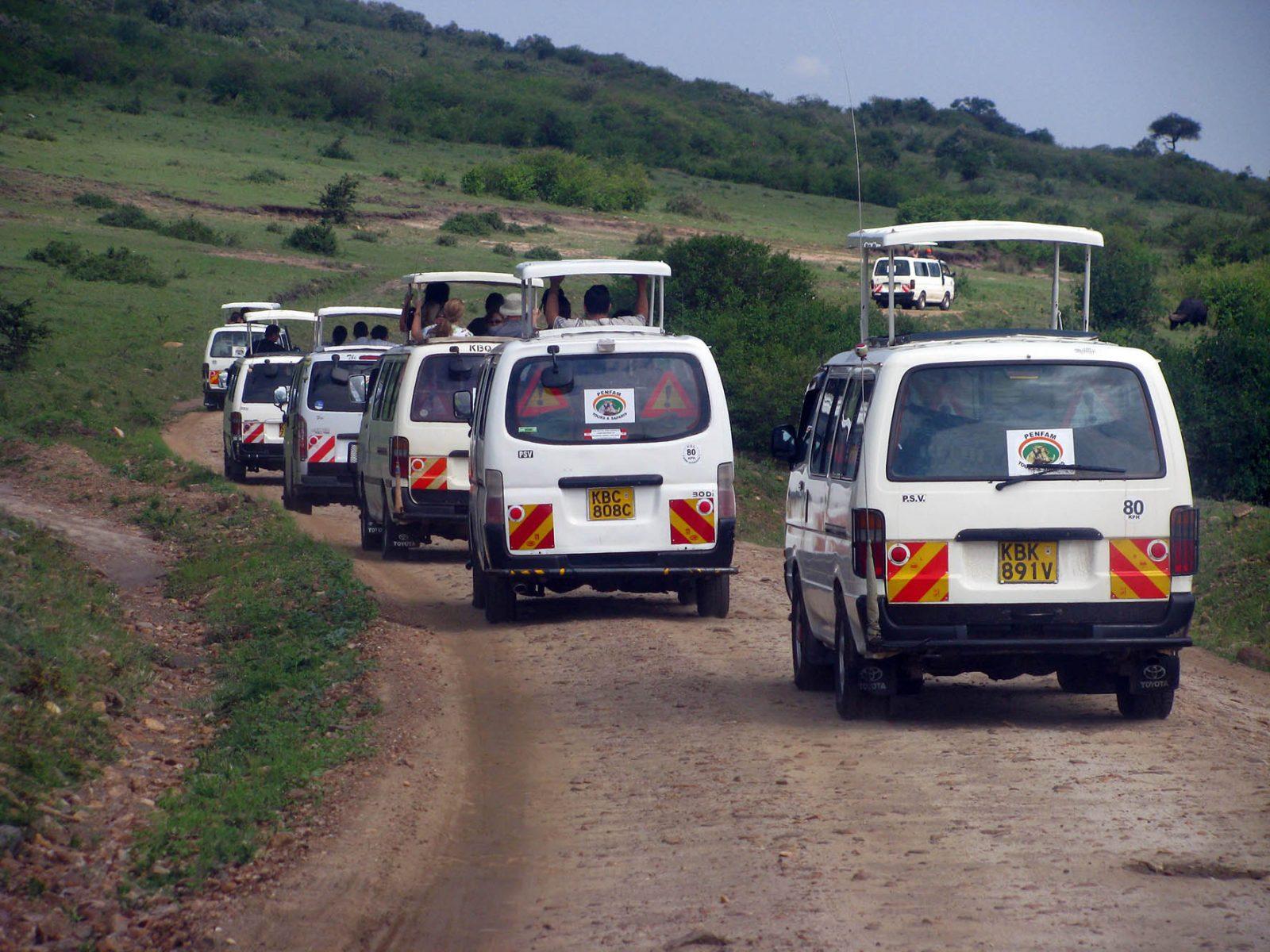 Kenya Safaris and Tours | Penfam Safaris Van convoy